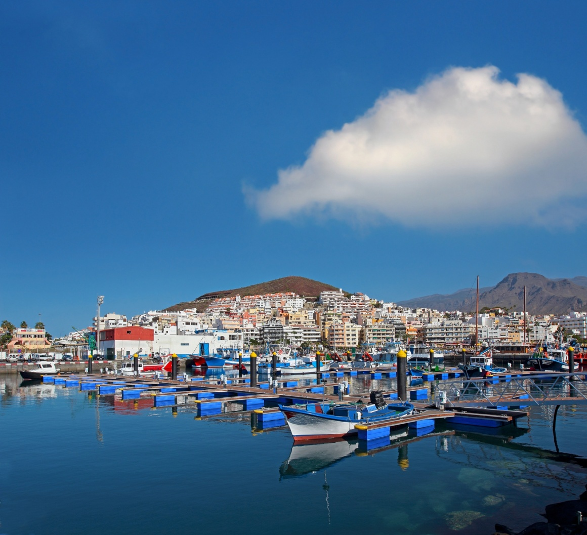 'Harbor in Los Cristianos resort town in Tenerife, Canary Islands, Spain' - Tenerife